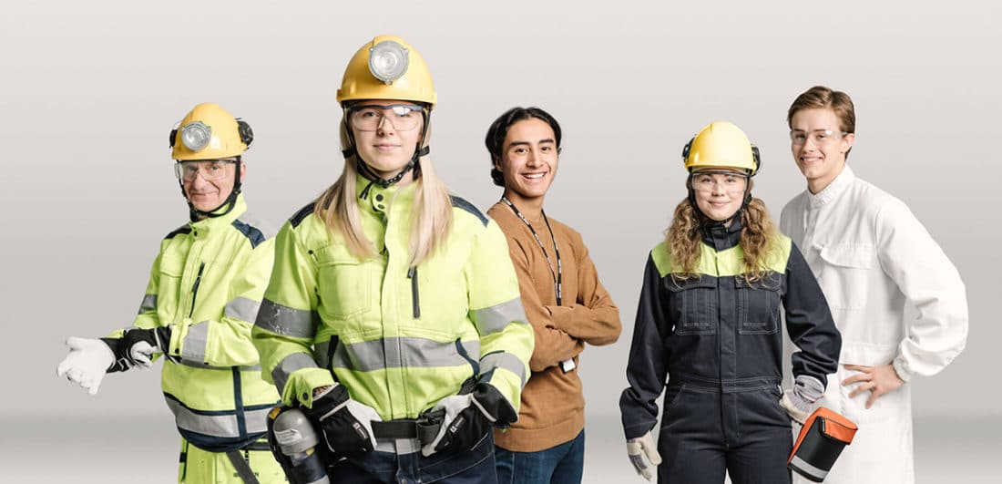 Geologer, gruvingenjörer, elektriker, mekaniker, kemister och projektledare är exempel på yrkesrollerna hos Boliden