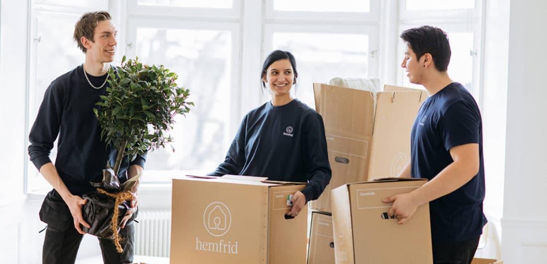 Medarbetare på Hemfrid, ett bolag inom städ och hushållsnära tjänster som är ett av årets Karriärföretag