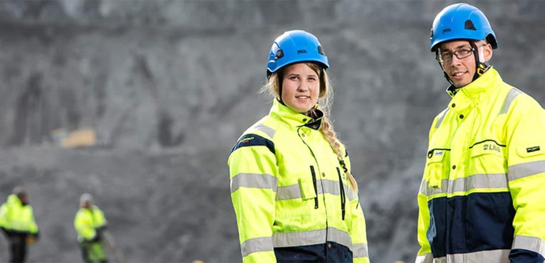 Medarbetare på LKAB vid en av företagets gruvor