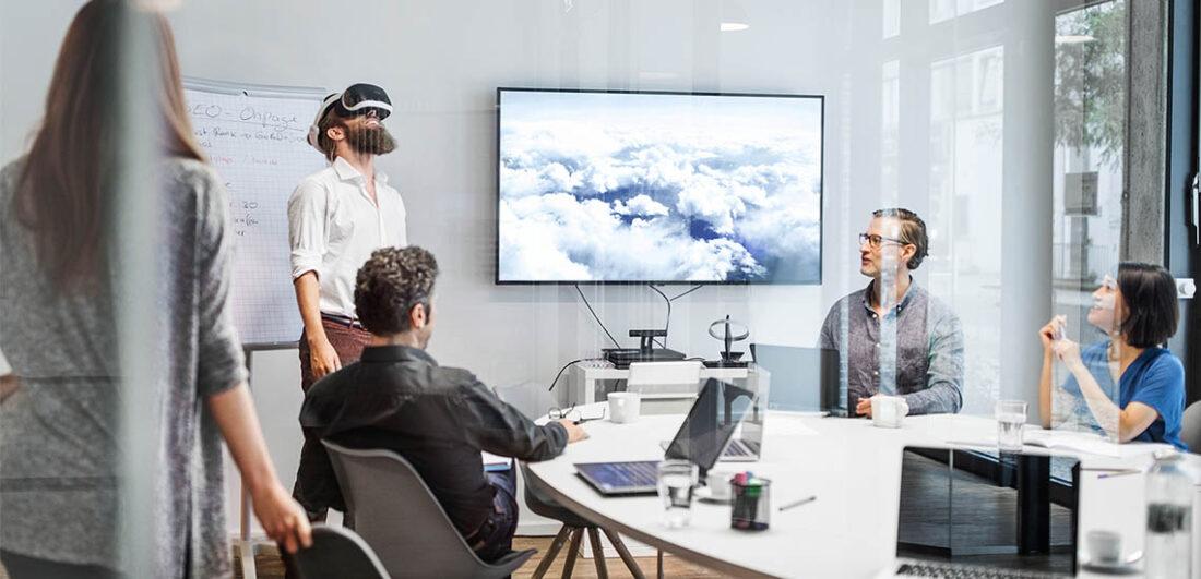 Anställda på WSP testar Virtual Reality
