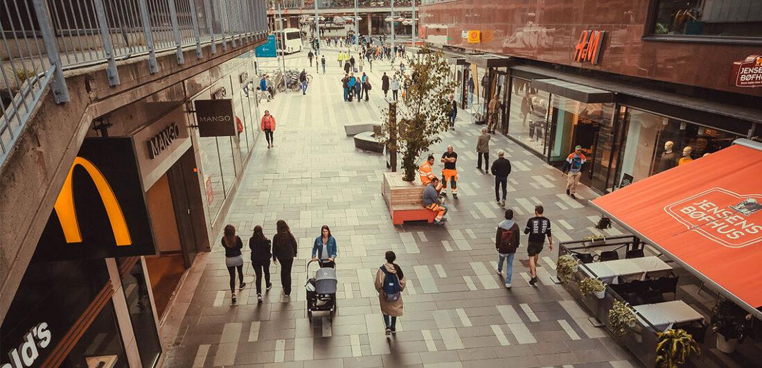 Galleria med butiker i Sverige