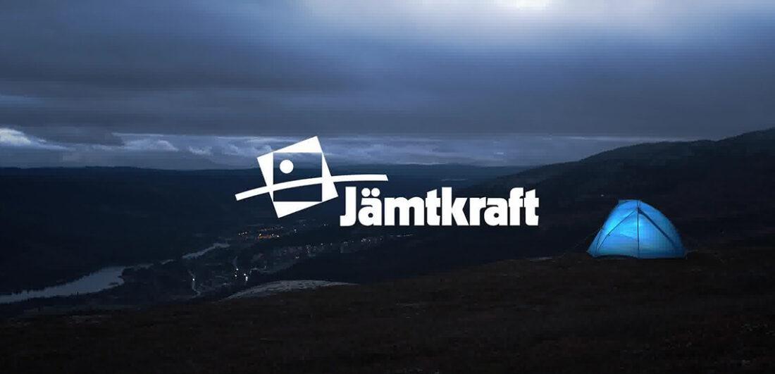 Logotyp Jämtkraft mot naturbild